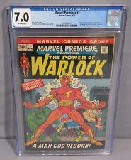 MARVEL PREMIERE #1 (Origin 1st Adam Warlock & Soul Gem) CGC 7.9  Marvel 1972