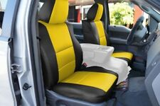 FORD F-150 04-08 S.LEATHER FRONT SEAT COVER NO BUILT IN SEATBELT BLACK/YELLOW