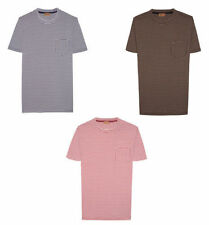 Cotton Short Sleeve Basic Tees Striped T-Shirts for Men