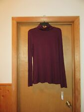 Long Sleeve Turtleneck APT.9 White & Black,Purple Garnet LG,MD,95% rayon 5% span