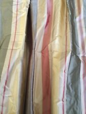 """HPD Pacific Heights 100%Silk Stripe Curtain 50""""x96"""" $550 for 4 panels"""
