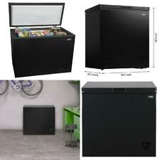 Chest Freezer Arctic King 7 Cu Ft with Removable Storage Basket Thermostat Black