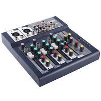 1X(F-4 Kanal Professionelles Live Mischung Studio Mit 4 Kanälen Audio Ton K R4B5