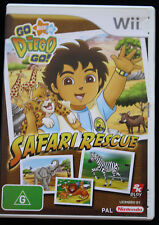 Nintendo Wii PAL Game GO DIEGO GO - SAFARI RESCUE Complete FREE POST