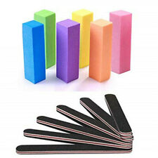 12pcs/set Nail Files And Buffers Block Manicure Kits Rectangular Art Care~
