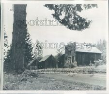1964 Abandoned Mining Town of Golden Josephine County Oregon Press Photo