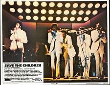 TEMPTATIONS/DENNIS EDWARDS orig lobby card SAVE THE CHILDREN 11x14 movie poster