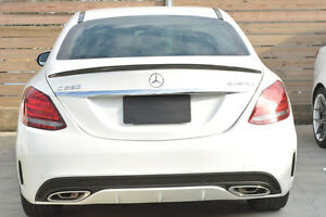 Painted Mercedes Benz Gloss Black C205  Coupe 2015+ Rear Boot Lip Spoiler