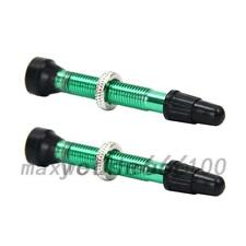 40mm Tubeless Replacement Presta Valve Stem (2-Pack) Removable Core Bike Tubes