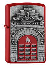 NEUHEIT 2017!! ZIPPO Feuerzeug FIRE HOUSE Red matte Feuerwehr Feuer NEU OVP