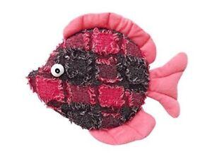 Plush Donna Discus Fish Dog Toy 10.5-