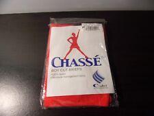 Chasse Boy Cut Brief Orange Girls Youth Small Shorts