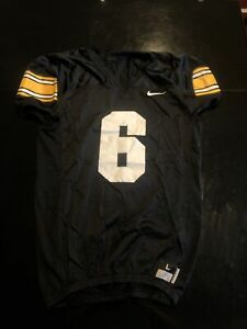 Game Worn Used Iowa Hawkeyes Practice Football Jersey #6 Nike Size L