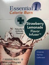 Optavia Medifast Essential Calorie Burn Strawberry Lemonade Flavor Infuser 21pkt