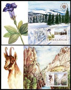 2001a - Yugoslavia 1983 - European Nature Protection - Flowers - Chamois - MC