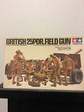 TAMIYA, WWII BRITISH 25 POUNDER FIELD GUN Plastic Model kit