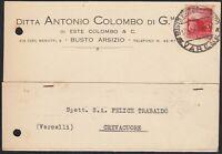 AA6533 Ditta Antonio Colombo di G.mo di Este Colombo & C. - Busto Arsizio 1947