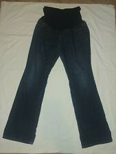 INDIGO BLUE Secret fit belly Full Panel Straight dark maternity jeans Medium LM