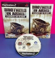 Brothers in Arms Earned Blood  PS2 Playstation 2 COMPLETE Game 1 Owner Mint Disc