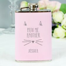Personalised Pink Ladies Hip Flask Bridesmaid Gift, Maid of Honor, Gift Boxed