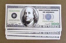 25  Ben Franklin $100 FAKE CASINO DOLLARS WHOLESALE LOT NOVELTY 100 DOLLAR BILLS