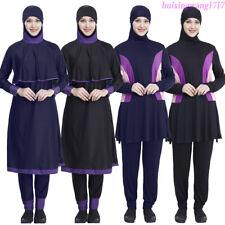 2019 Women Burkini Swimwear Muslim Full Cover Swimsuit Modest Beachwear Islamic