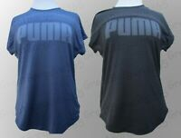 Ladies PUMA T-Shirt Top DryCell Yogini Yoga Training Gym Blue Black S M L XL New