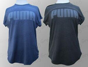 Ladies PUMA T-Shirt Top DryCell Yogini Yoga Training Gym Blue Black S M L XL New