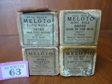 4 Meloto Pianola Song Rolls