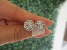4.50 Carat Face Illusion Diamond Earrings 14k White Gold JS87 sep (PRE-ORDER)
