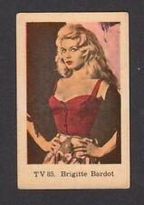 Brigitte Bardot 1960s Movie Film Card Look! from Sweden #TV85
