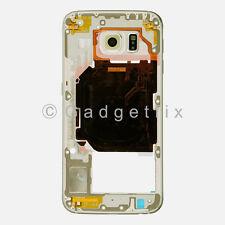US OEM Gold Samsung Galaxy S6 G920A G920T Back Housing Frame Bezel + Camera Lens