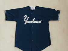 NEW YORK YANKEES SEWN STARTER MLB BLUE BASEBALL JERSEY REGULAR SEASON MEN L