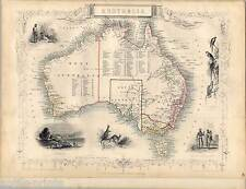 Australia - Australia - Australien - Karte-Map-Tallis & Co. 1850