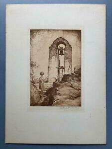 William Timlin, Etching of a Bechuanaland Mission Bell, SIGNED in pencil