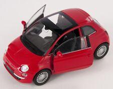 BLITZ VERSAND Fiat 500 2007 rot / red Welly Modell Auto 1:34 NEU & OVP