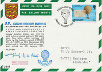 "GB JERSEY 1973 33th German Balloonpost-Flight ""START CANCELLED - UNSAFE WEATHER"""