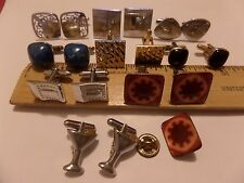 VINTAGE 9 PAIR  CUFFLINKS  LOT WAS $40