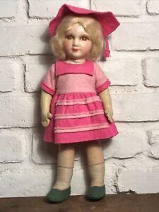 Original True Vintage c1930s Deans Ragbook Doll - Lenci Style