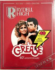 GREASE 40th ANNIVERSARY EDITION * BLU-RAY + DVD + DIGITAL * BRAND NEW SEALED!