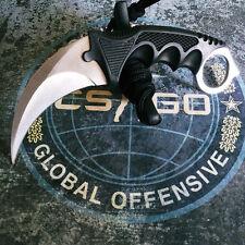 Counter Silver Tooth Real CSGO Karambit GO Knife Skin CS Strike Elemental Knives