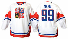 Team Czech republic WHITE Ice Hockey Fan Jersey Custom Name and Number