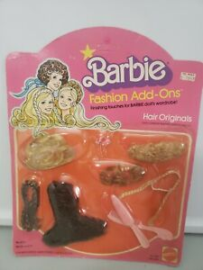 Barbie Fashion Add-Ons Hair Originals Mattel #2457 1978 Accessories NRFB 70s