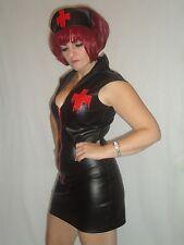 Faux Leather Halloween Uniform Fancy Dresses