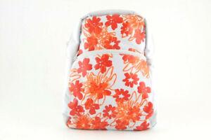 Zaino zainetto bimba Kelme bianco fiori arancioni spallacci regolabili