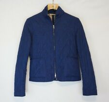 Burberry London Woman's Small Quilted Jacket Blue Nova Check