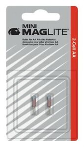 Maglite LM2A001 PACK (2)  Replacement Lamp BULBS For AA Mini Flashlight 1207430