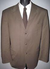 """44R brown/beige ~3 button """"Daniel Gray"""" Travel Concepts 100% wool suit 36Wx29L"""