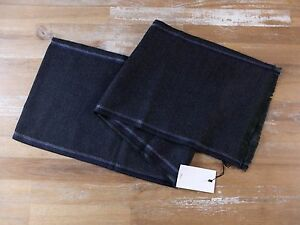 DIOR HOMME gray lightweight two-sided wool scarf authentic - NWT