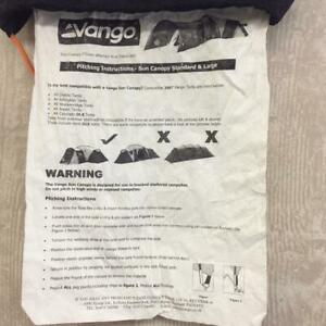 Vango Sun Canopy Large Tent Extension Universal Tunnel Porch Diable Aspen Tents